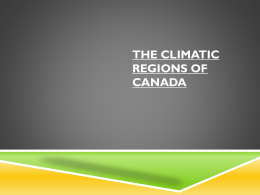 The Climatic Regions of Canada UPDATE