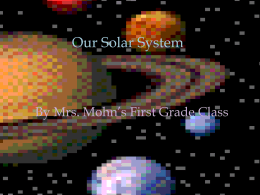 Our Solar System - firstgrade-oms
