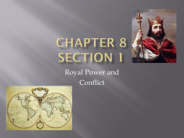 World History Chapter 8 sec 1
