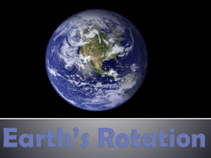 Earth`s Rotation