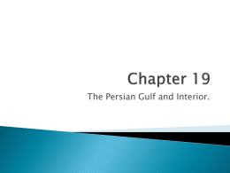 Chapter 19-Persian Gulf and Interior