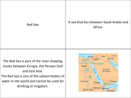 Middle East Vocab - Literacy Strategies 1