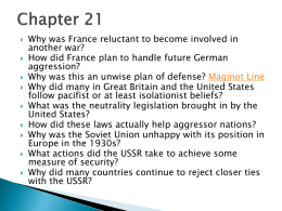 IB History Chapter 21 Questions