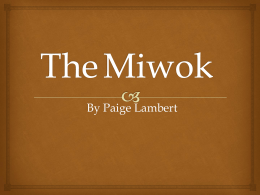 The Miwok - Mrs. Pope`s Class