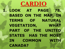 Chapter 4 The United States and Canada Physical Geography