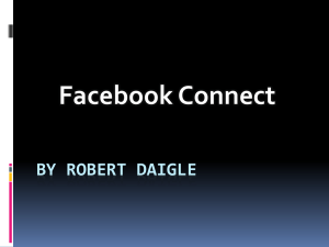 Facebook Connect Presentation PPT