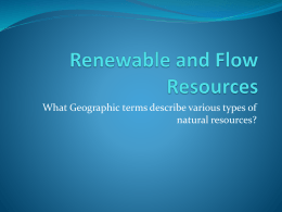 Renewable and Flow Resources - Grand Erie District School Board