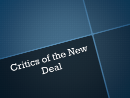 Critics of the New Deal