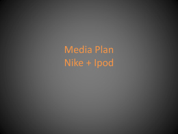 Media Flight Plan Nike + Ipod