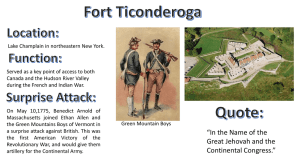 Fort Ticonderoga Location