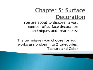 Chapter 5: Surface Decoration