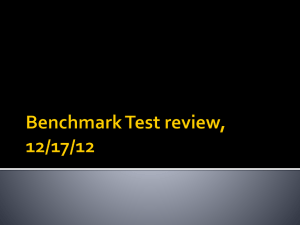 Benchmark Test review, 12/17/12 How did geography affect life in