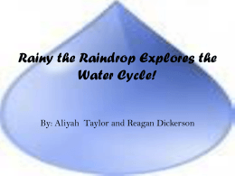 Rainy the Raindrop Explores the Water Cycle by