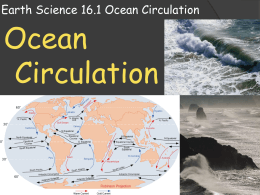 Earth Science 16.1 Ocean Circulation