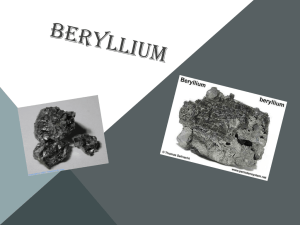 the streak of beryllium is white