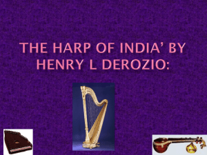 The Harp of India* by Henry L Derozio: