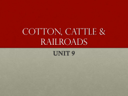 COTTON, CATTLE & RAILROADS