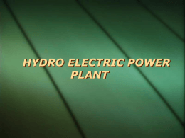save-HYDRO ELECTRIC POWER