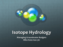 Isotope Hydrology