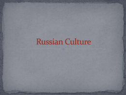 Russian Culture ppt