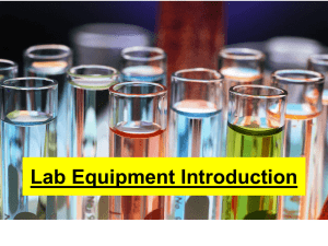 Lab Equipment PowerPoint for Notes