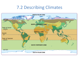 Describing Climates