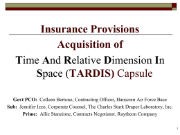 Session 3 - Course 18 - Insurance Provisions