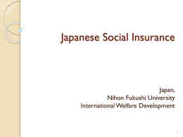 The Japanese Social Security Program