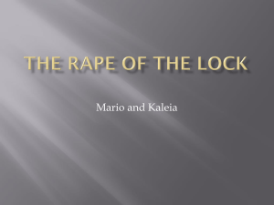The Rape Of the Lock review