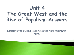 Unit 4 Power Point Notes