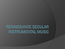 Renaissance Secular Instrumental music