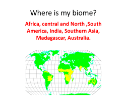 Where is my biome?