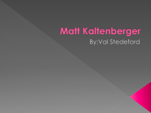 Matt Kaltenberger