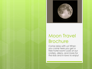 Moon Travel Brochure