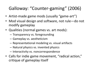 Galloway: *Counter-gaming* (2006)