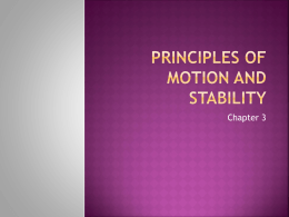 Principles of Motion and STability - DiCicco Health