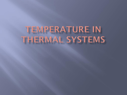 OLL#9: Temperature in Thermal Systems