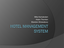 Hotel Management System Presentation 3