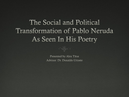 The political and social transformation of Pablo Neruda