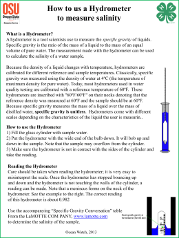 Reading the Hydrometer - Oregon State 4-H
