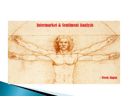 Intermarket & Sentiment analysis