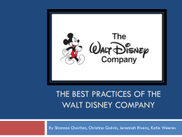 The Best Practices of the Walt Disney Company
