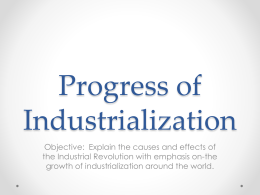 Progress of Industrialization