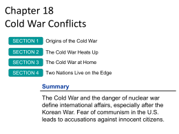 Chapter 18 Cold War Conflicts