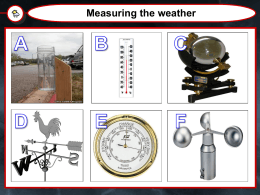 How do you measure the weather