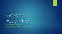 Gozoop Assignment