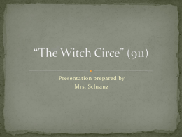 The Witch Circe - Mrs. Schranz`s Website