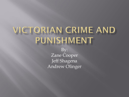 Victorian Crime and punishment