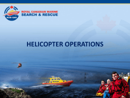 10.7 Helicopter Operations