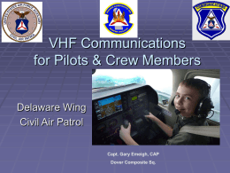 REPEATERS - The Civil Air Patrol is a federally charted organization